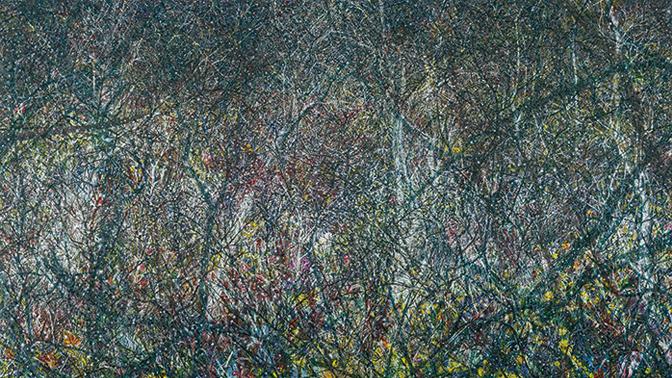 02 허수영, Forest 10, 2016, Oil on Canvas, 248x436cm